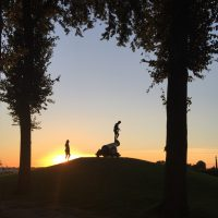 Sunset in Sloten at around 22:00 hours